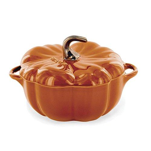 (Staub 40511-555 Ceramics Petite Pumpkin Cocotte, 16-oz, Burnt Orange)