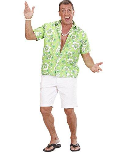 Chemise hawaïenne verte homme - Large