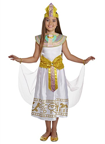 Girls Colorful Cleo Egyptian Cleopatra Dress Costume Medium 8-10 -