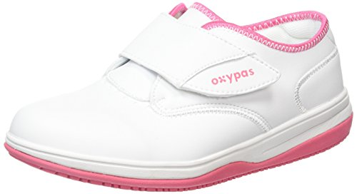Oxypas Medilogic Emily Slip-resistant, Antistatic Nursing Shoe, White (Fux), 3.5 UK (36 EU)