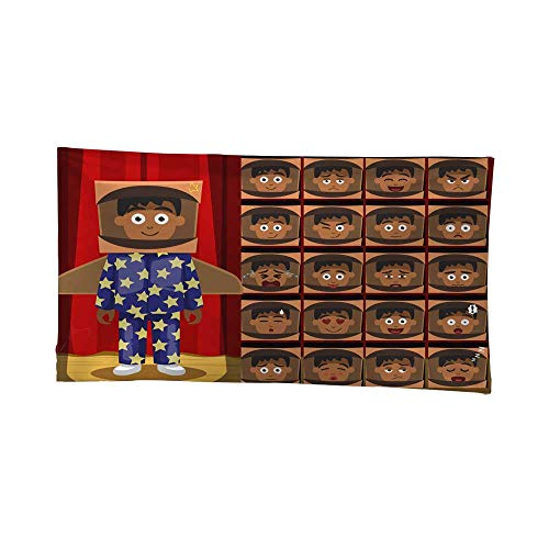 Nicely Tapestries Wall hangings Children Pajama Boy Spaceman Costume Cartoon Emotion Faces Gray Tapestries 72W x 54L Inch
