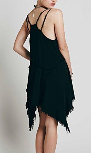 Hem Sun R Women's Asymmetrical Dress Short Vivimos Black wBtvZxTq