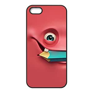 Lovely unique eye and pencil fashion phone case for iPhone 5s