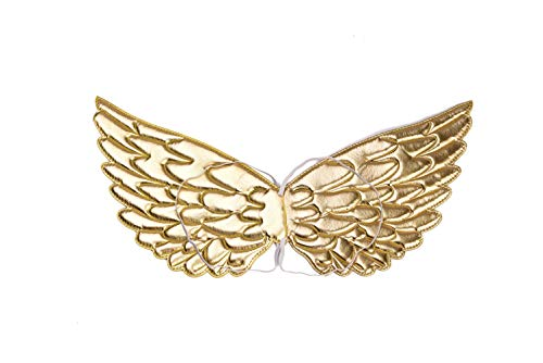 Halloween Birthday Supplies Wings for Girls Boys Party Favors Costume Accessories Golden]()