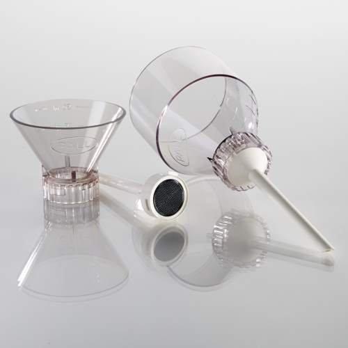 PALL 4203 Polysulfone Filter Funnel for 25 mm Filter, Non-Sterile, 200 mL Capacity, 7.1 cm Diameter, 20.1 cm Length