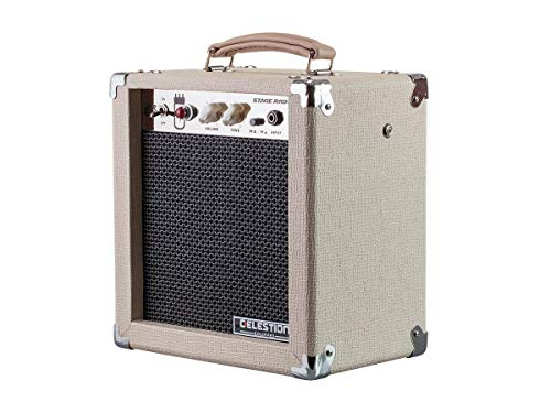 - Monoprice 611705 5-Watt 1x8 Guitar Combo Tube Amplifier - Tan/Beige with Celestion Super 8 Inch Speaker, 12AX7 Preamp, Versatile and Durable For All Electric Guitars