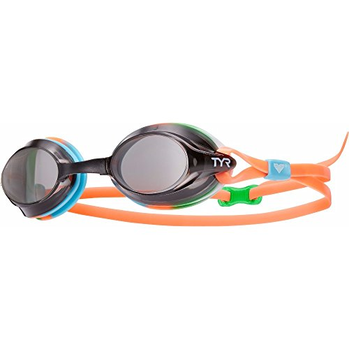 TYR Velocity Goggles, Smoke Tie Dye, One Size (Tyr Tri Color)