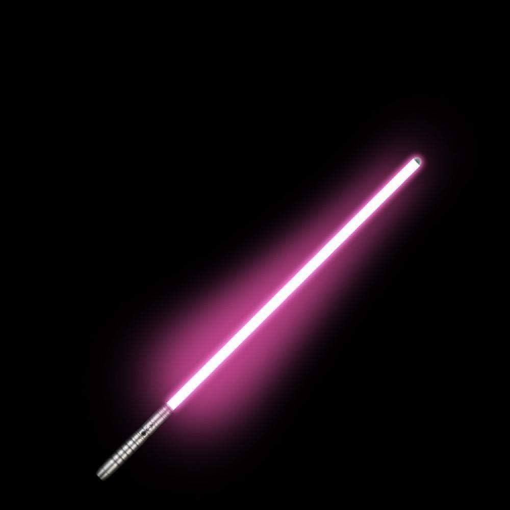 BTYKJ Poignée en métal de Cadeau d'anniversaire de Parent-Enfant pour Enfants épée Laser Star Wars pour Enfants Silver handle,golden light (lighting)