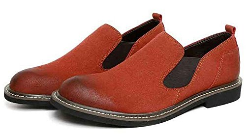 Jiye Mens Mocassins Occasionnels Chaussures De Marche En Cuir Marron