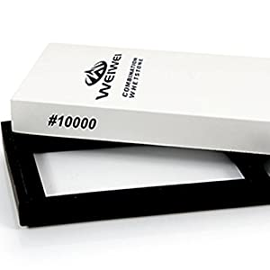 WEIWEI ® 10000 Grit Whetstone ★ Bonus Card Wallet Knife ★ Waterstone Knife / Razor Sharpener Super Fine Sharpening Stone – it easy chipped. But I like this stone
