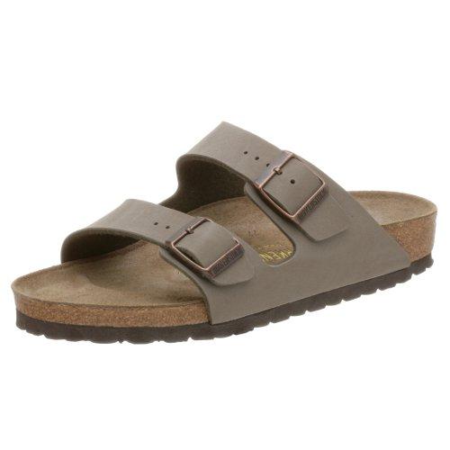 Birkenstock Unisex Arizona Soft Footbed Sandal, Stone Birkibuc, 42 M  EU/11-11.5 B(M) US Women/9-9.5 B(M) US Men