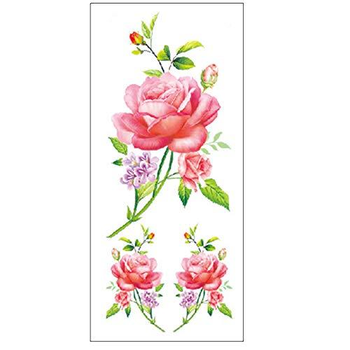 Yyoutop 5pcs-Flower Etiqueta engomada del Tatuaje Color Bosquejo ...