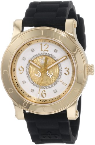 (Juicy Couture Women's 1900833 HRH Black Jelly Strap Watch)