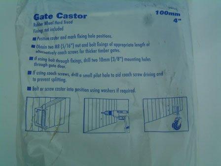 Select Hardware 9785 Spring Loaded Gate Castor, Black