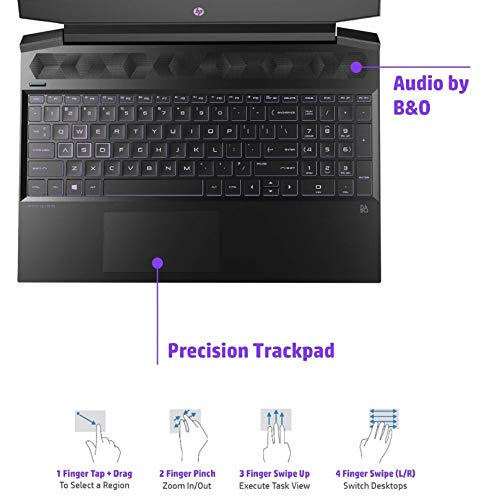 HP Pavilion Gaming 15-ec0026AX 15.6-inch Gaming Laptop (Ryzen 5 3550H/8GB/1TB HDD + 256GB SSD/Windows 10 Home/3GB NVIDIA GTX 1050 Graphics), Shadow Black