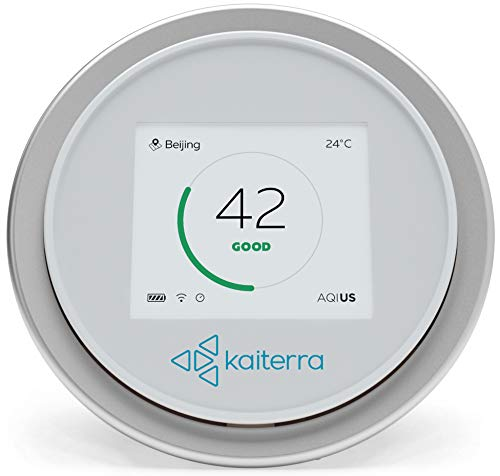 Measure 2 - Kaiterra Laser Egg 2 Smart Indoor Air Quality Monitor, Measures Fine Dust (PM2.5), Temperature, Humidity, WiFi Enabled, Compatible with Apple HomeKit/Android