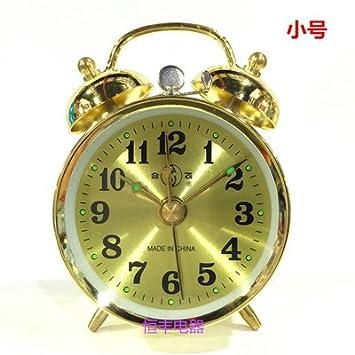 Cunclock Reloj Reloj Despertador mecánico Metal Primavera cuerda Manual antiguo núcleo de cobre jugar trompeta 867 máquinas de oro: Amazon.es: Hogar