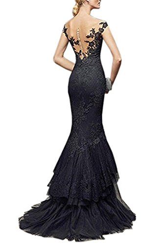 Evening BP022 Shoulder Mermaid Black s Dresses Gowns Prom Women 2018 Long BessWedding Off HRUzq