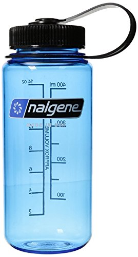 NALGENE Tritan 1-Pint Wide Mouth BPA-Free Water Bottle,Slate Blue,16 - Slate Bottle
