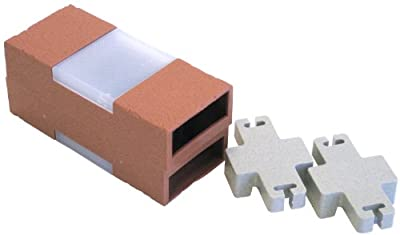Let's Edge It! Decorative Plastic Brick Edging with Built-In Solar Lights, Terra Cotta, 2-Pack - Argee RG873