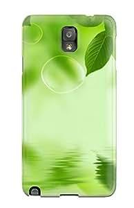Premium pc Fresh Green Leaf Cover Skin For Galaxy Note 3