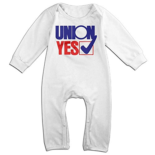 Boy & Girl Infants Union Yes Sign Long Sleeve Romper Climb Clothes 24 Months (Stop Sign Toddler Costume)