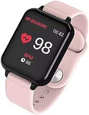 Relógio Inteligente Smart Watch B57 Hero Band 3 Monitor Cardíaco Monitor Sono Pressão Sangue iOS Android (Rosa)