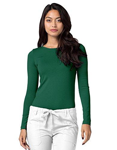 Adar Womens Comfort Long Sleeve T-Shirt Underscrub Tee - 2900 - Hunter Green - M by Adar Uniforms (Image #3)