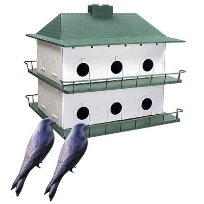 BestNest 12-Room Two-Story Purple Martin House with Decoys 12 Room Purple Martin House