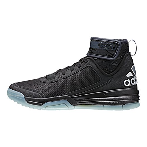 Adidas Mens Dual Threat BB Basketball Shoes (6.5, Black/White/Frozen Blue)