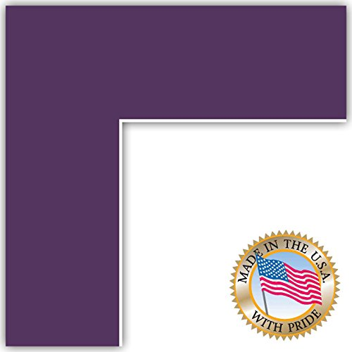 7x10 Grape Custom Mat for Picture Frame with 3x6 opening -