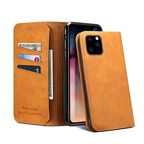 Wallet Cover Case for iPhone 11 Apple,Soft Leather Folio Magnetic Closure Slim Protective Shell |
