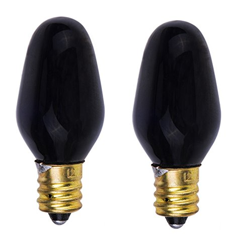 ShineBright Incandescent 5-Watt, Candelabra Based, Blacklight Bulb (Night Blacklight Incandescent Bulb)