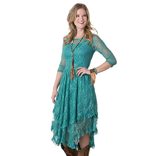 Dusty Turquoise Fields Lace -