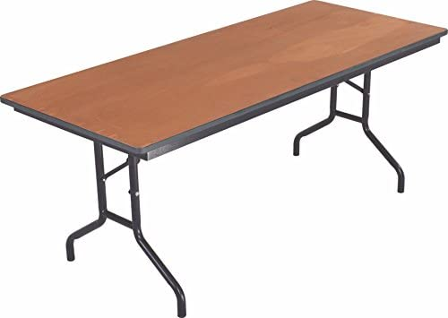 Amazon com: AmTab - 368PM - Folding Table, Plywood Stained