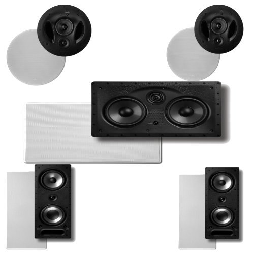 Polk Audio 90-RT In-Ceiling Speakers (Pair) Plus Polk Audio 265RT 3-Way In-Wall Speakers (Pair) & A Polk Audio 255C-LS Center Channel Speaker by Polk Audio