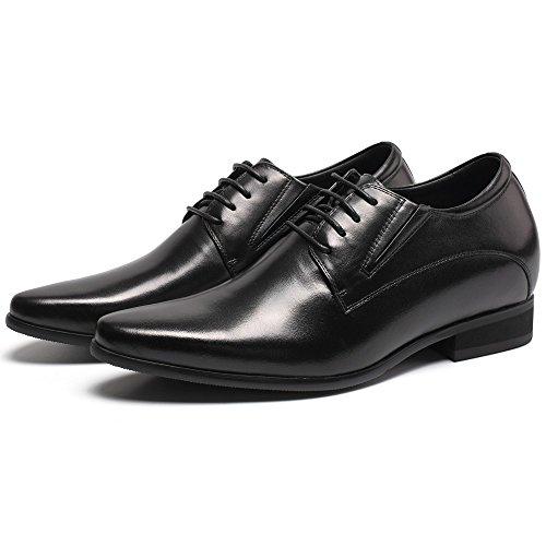 CHAMARIPA Zapatos de cuero hombre Derby Business para ser 8 cm más alto - H62D11K011D