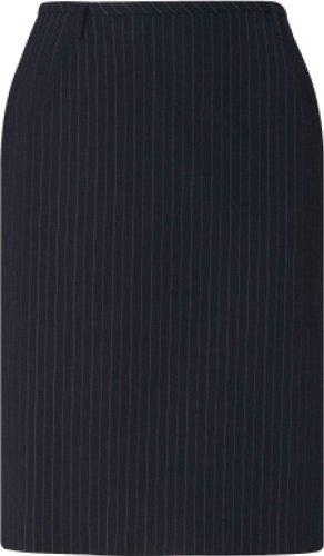 GREIFF Damen-Rock Business-Rock PREMIUM regular fit - Style 1542, Farbe: Marine/Nadelstreifen, Größe: 42