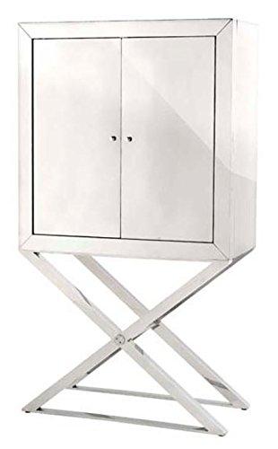 Casa Padrino Designer Edelstahl Schrank Silber Luxus Wohnzimmer