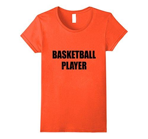 Basketball Player Costume Female (Womens Basketball Player Shirt Halloween Costume Funny Distressed Small Orange)