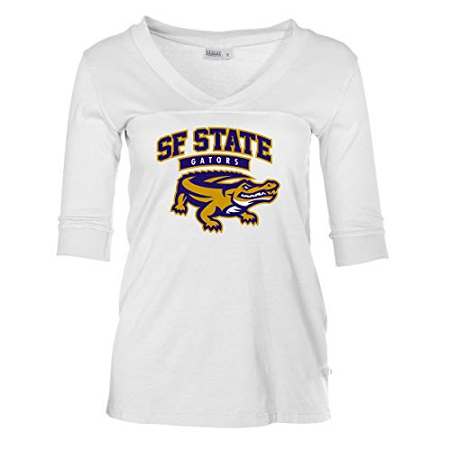 Official NCAA San Francisco State Gators - Women's 3/4 Sleeve Football Jersey -
