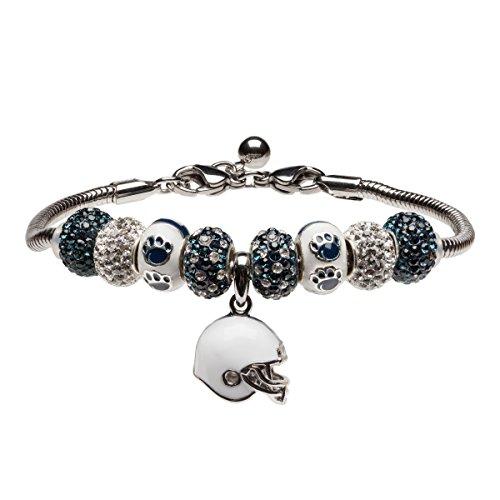 Penn State Charm Bracelet | Penn State Nittany Lions Bead Charm Bracelet | Officially Licensed Penn State Jewelry | Penn State Jewelry | PSU Bracelet | Stainless Steel