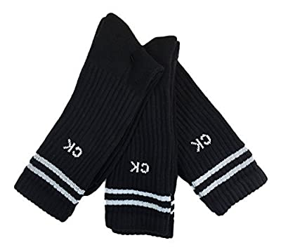 Calvin Klein Underwear Men's Pin Dot Crew Socks, Black, One Size