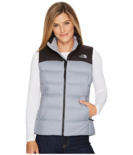 The North Face Nuptse Vest Mid Grey/TNF Black Women