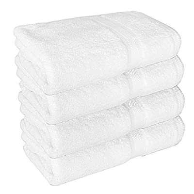 Premium Bath Towels, Circlet Egyptian Cotton Towel Set, Hotel Quality Soft and Highly Absorbency Towels (Pack of 4, 27x54 Inch)