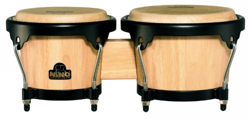 (NINO Wood Bongos 6 1/2-Inch & 7 1/2-Inch Natural/Black)