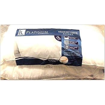 Amazon Com Pack Of 2 Platinum Memory Fiber Pillows King