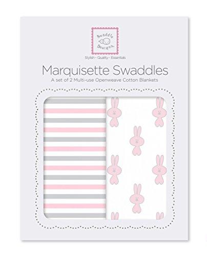 SwaddleDesigns Marquisette Swaddling Blankets Premium