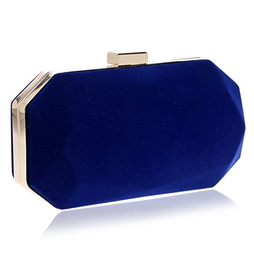 Color Clutch Wedding Suede Blue Bag JESSIEKERVIN Red Purse Evening Handbag 6WwBF6cxqf