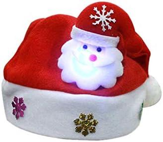 Kappha Sombreros navideños con luz LED Gorro de Santa Gorro navideño Papá Noel Fiesta de Navidad Mercado navideño Adultos y niños: Amazon.es: Hogar
